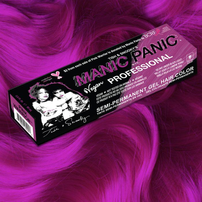 Профессиональная гелевая краска для волос PINK WARRIOR - Manic Panic Professional