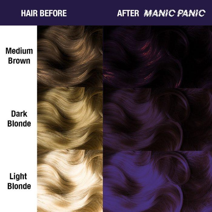 Усиленная фиолетовая краска для волос Purple Haze