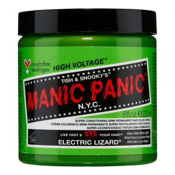 Зеленая краска для волос Electric Lizard 237 мл (большая банка)