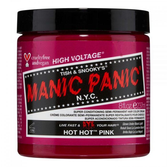 Краска для волос Hot Hot Pink розового цвета 237 мл (большая банка)